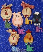 Farm Friends Chubby Key Ornaments Pattern - Betty Bowers - PDF DOWNLOAD