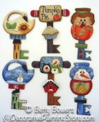 Autumn and Winter Chubby Key Ornaments Pattern BY DOWNLOAD