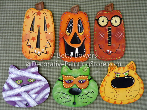 Cat & Pumpkin Ornies Pattern BY DOWNLOAD