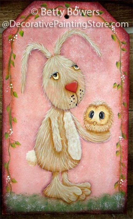 Bunny & Baby Owl Wood Tag Pattern BY DOWNLOAD
