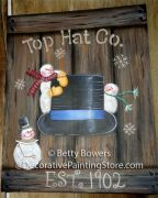 Top Hat Co. Snowman Sign Pattern BY DOWNLOAD