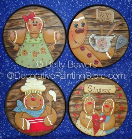 Gingerbread Stove Burner Covers Pattern BY DOWNLOAD