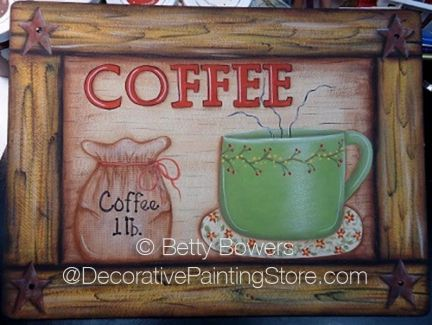 Coffee Sign Pattern - Betty Bowers - BY DOWNLOAD