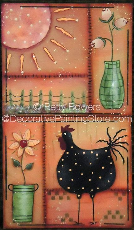 Festive Chicken Pattern - Betty Bowers - BY DOWNLOAD