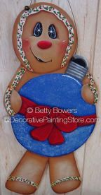 Gingerbread with Blue Christmas Ball ePattern - Betty Bowers - PDF DOWNLOAD