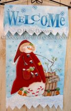Welcome Snowman Banner ePattern - Betty Bowers - PDF DOWNLOAD