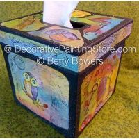 Owl Tissue Box - Betty Bowers - PDF DOWNLOAD