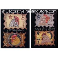 Chicken Stamp Ornaments - Betty Bowers - PDF DOWNLOAD