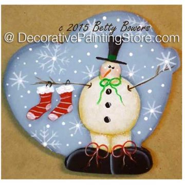 Snowy Pin Ornament - Betty Bowers - PDF DOWNLOAD