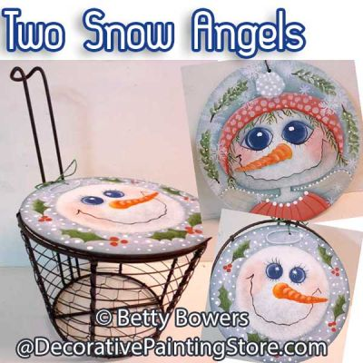 Two Snow Angel Ornaments - Betty Bowers - PDF DOWNLOAD