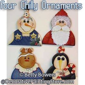 Four Chilly Ornaments - Betty Bowers - PDF DOWNLOAD