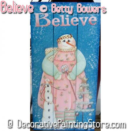 Believe Snowman - Betty Bowers - PDF DOWNLOAD