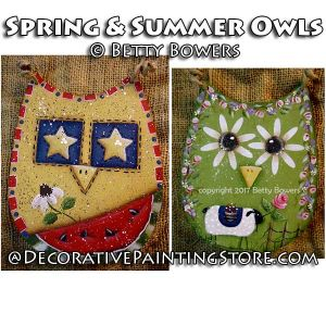 Spring and Summer Owls - Betty Bowers - PDF DOWNLOAD