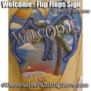 Welcome Flip Flop Sign - Betty Bowers - PDF DOWNLOAD
