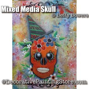 Mixed Media Skull - Betty Bowers - PDF DOWNLOAD