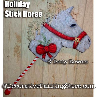 Holiday Stick Horse e-Pattern - Betty Bowers - PDF DOWNLOAD