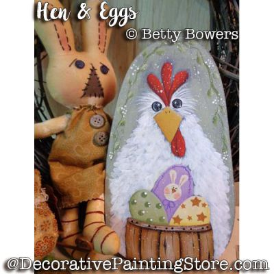 Hen and Eggs e-Pattern - Betty Bowers - PDF DOWNLOAD