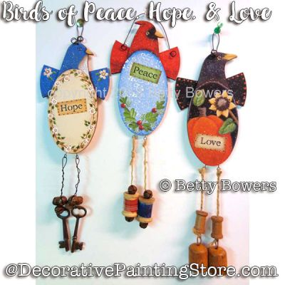 Birds of Peace-Hope-Love e-Pattern - Betty Bowers - PDF DOWNLOAD