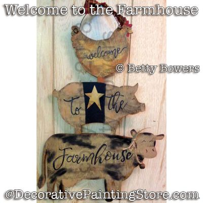 Welcome to the Farmhouse e-Pattern - Betty Bowers - PDF DOWNLOAD