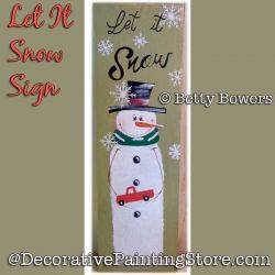 Let It Snow Sign DOWNLOAD - Betty Bowers