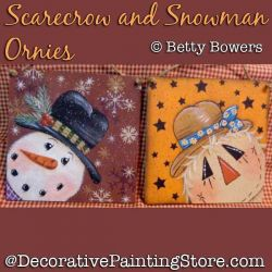 Scarecrow and Snowman Ornies DOWNLOAD - Betty Bowers