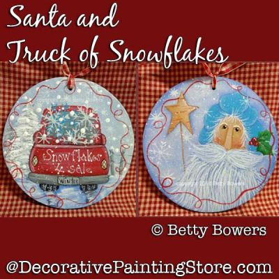 Santa and Truck of Snowflakes DOWNLOAD - Betty Bowers