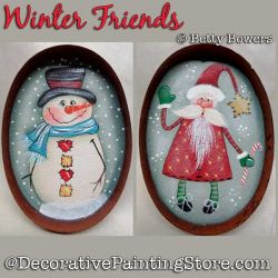 Winter Friends Ornaments DOWNLOAD - Betty Bowers