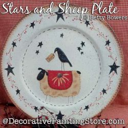 Stars and Sheep Plate DOWNLOAD - Betty Bowers