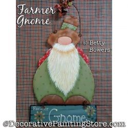 Farmer Gnome Painting Pattern PDF DOWNLOAD - Betty Bowers