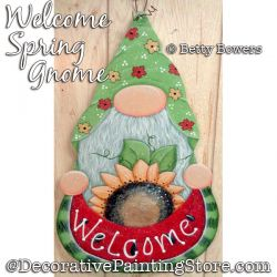 Welcome Spring Gnome Painting Pattern PDF DOWNLOAD - Betty Bowers