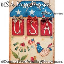 USA Door Hanger Painting Pattern PDF DOWNLOAD - Betty Bowers