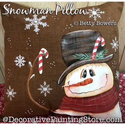 Snowman Pillow Painting Pattern PDF DOWNLOAD - Betty Bowers