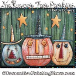 Halloween Fun Punkins (Pumpkins) Painting Pattern PDF DOWNLOAD - Betty Bowers