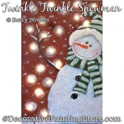 Twinkle Twinkle Snowman on Canvas Painting Pattern PDF DOWNLOAD - Betty Bowers
