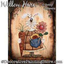 Willow Hare Painting Pattern PDF DOWNLOAD - Betty Bowers