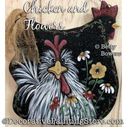 Chicken and Flowers Painting Pattern PDF DOWNLOAD - Betty Bowers