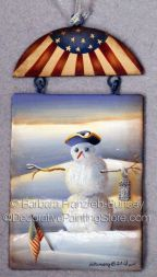 Colonial Snowman ePattern - Barbara Franzreb-Bunsey - PDF DOWNLOAD