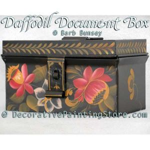 Daffodil Document Box ePattern - Barbara Franzreb-Bunsey - PDF DOWNLOAD