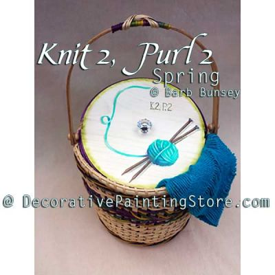 Knit 2 Purl 2 Spring ePattern - Barbara Bunsey - PDF DOWNLOAD
