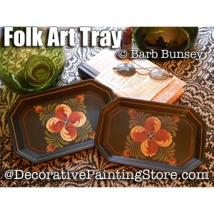 Folk Art Tray ePattern - Barbara Bunsey - PDF DOWNLOAD