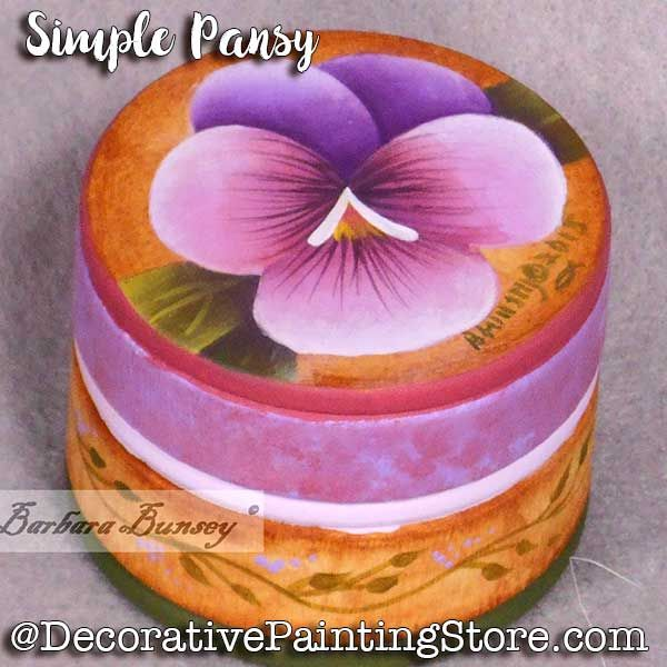 Simple Pansy ePattern - Barbara Bunsey - PDF DOWNLOAD