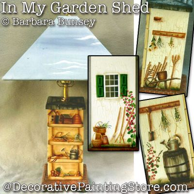 In My Garden Shed Lamp ePattern - PDF DOWNLOAD - Barbara Bunsey