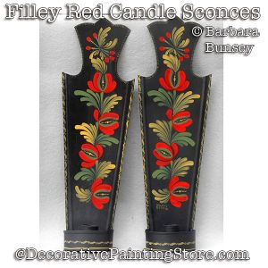 Filley Red Candle Sconces DOWNLOAD - Barbara Bunsey