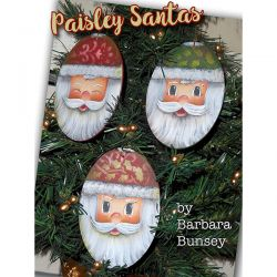 Paisley Santas DOWNLOAD - Barbara Bunsey