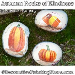 Autumn Rocks of Kindness DOWNLOAD - Barbara Bunsey