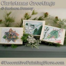Christmas Greetings DOWNLOAD Painting Pattern - Barbara Bunsey