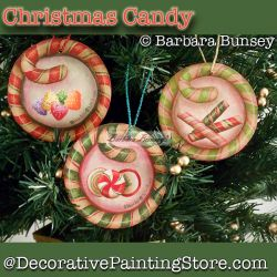 Christmas Candy DOWNLOAD Painting Pattern - Barbara Bunsey