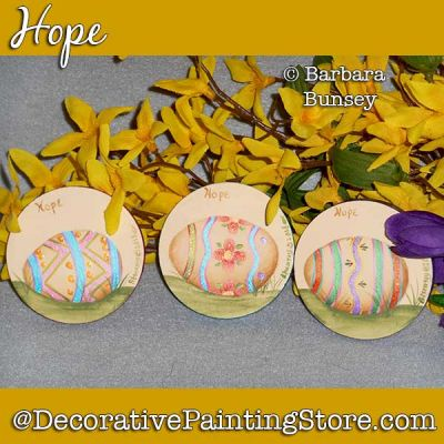 Hope (Easter Eggs) DOWNLOAD Painting Pattern - Barbara Bunsey