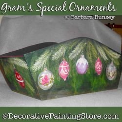 Grams Special Ornaments DOWNLOAD Painting Pattern - Barbara Bunsey