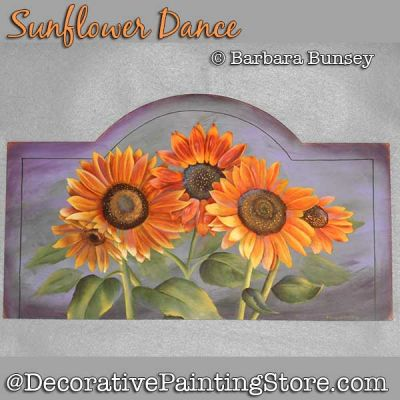 Sunflower Dance DOWNLOAD Painting Pattern - Barbara Bunsey